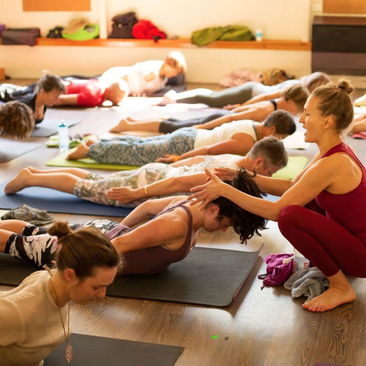 Laura Colless teaching yoga at Ekam Yoga Festival 2019
